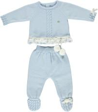 ec217403209 Piccola Speranza Blue   Cream Knitted Top   Trousers