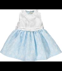 aeae7052c Piccola Speranza white & blue ruffle neck sleeveless dress