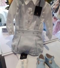 0752640255d Piccola Speranza White Shirt   Blue   White Checked Shorts