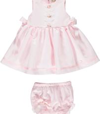 f2345ebf7 Pink piccola speranza rosebud sleeveless dress with side ribbons