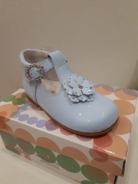 Andanines Diamante Flower Shoes (come in Blue & Ivory)