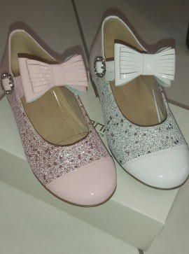 Andanines glitter bow shoes