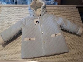 Babidu Pale Blue Super Soft Quilted Baby Blue Coat