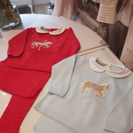 Boys rocking horse knitted loungwear