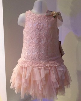 Kate Mack Peach Rosebud Dress