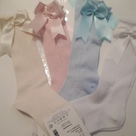 Knee High Fine Ribbon Socks