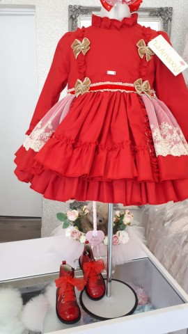 La Amapola Pretty Puffball dress