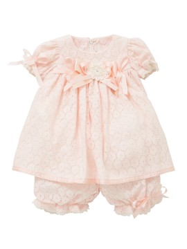 Little Darlings Feeling Peachy Baby Dress & Bloomers