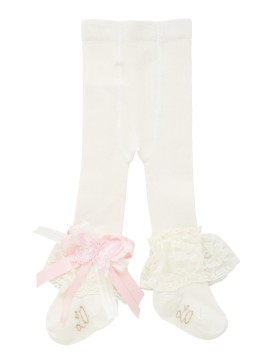 Little Darlings Pink Rosey Glow Cream Tights