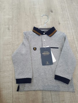 Mayoral Boys Grey Collared Poloshirt