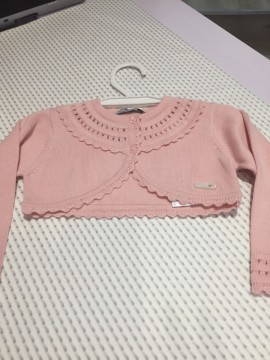 Mayoral Fine Knit Pink Cardigan