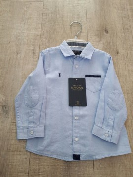 Mayoral Pale Bue Shirt with Pocket
