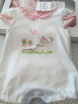 Mayoral Puppy Baby Romper