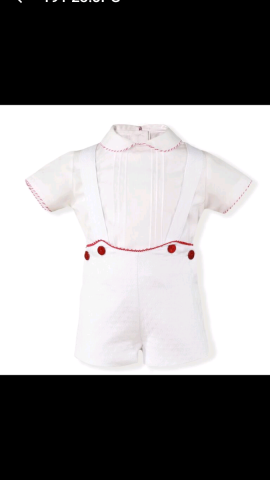 Miranda boys white & red shorts & shirt set