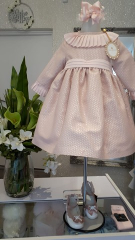 Piccola Speranza  dusky pink sparkle older girl dress