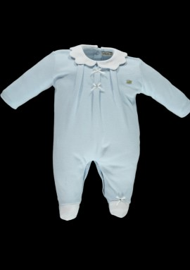 Piccola Speranza boys blue babygrow
