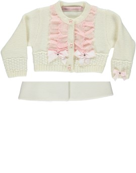 Piccola Speranza Cream with Pink Cardigan