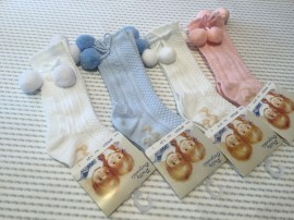 Pretty Originals Knee High Pom Pom Socks