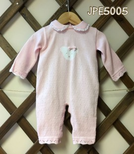 Pretty Originals Pale Pink Knitted Teddy Suit