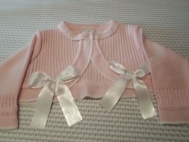 Pretty Originals Pink with White Bow Bolero