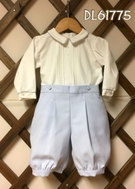 Pretty Originals White Shirt with Baby Blue Long Shorts